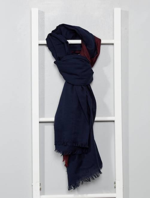 Pañuelo de algodón bicolor                                         azul Hombre