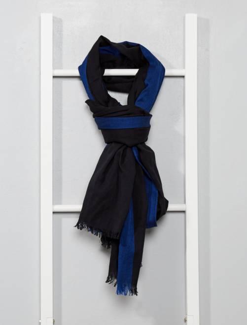 Pañuelo de algodón bicolor                                         negro Hombre