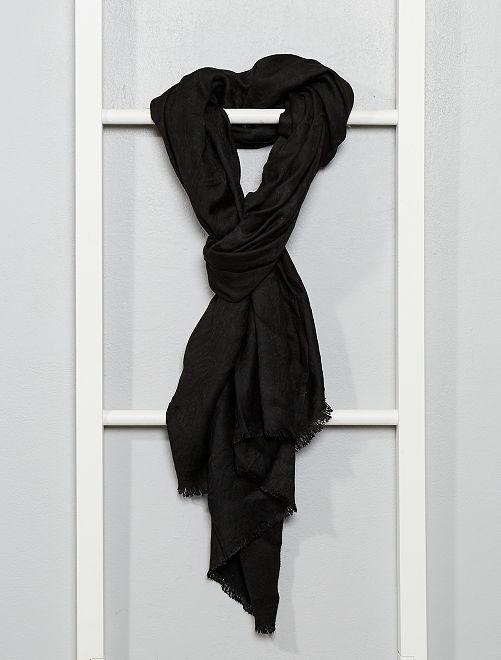 Pañuelo de aspecto seda                                         negro