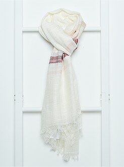 Mujer Pañuelo rectangular a rayas
