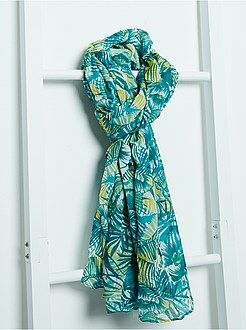 Mujer Pañuelo vaporoso con estampado tropical