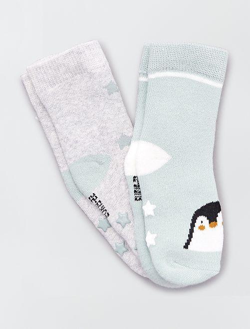 Par de calcetines antideslizantes 'pingüino'                                                                 pingüino
