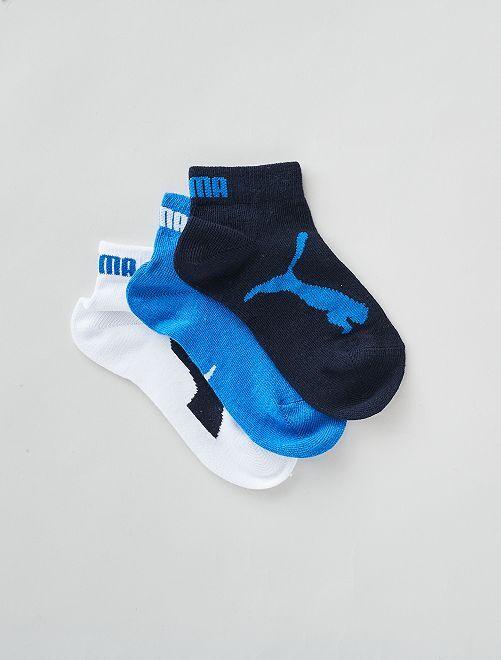 Par de tres calcetines bajos 'Puma'                                         AZUL