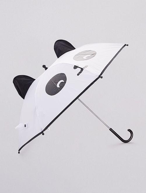 Paraguas con forma de panda                             NEGRO