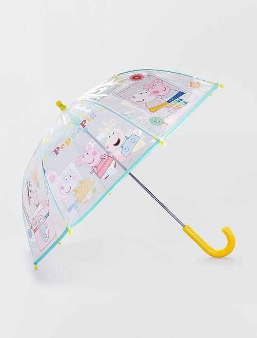 Paraguas de plástico transparente 'Peppa Pig'                             BEIGE