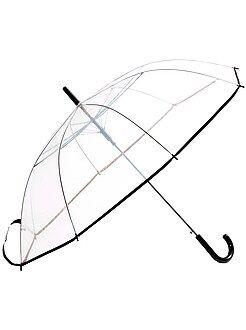 Mujer Paraguas grande transparente