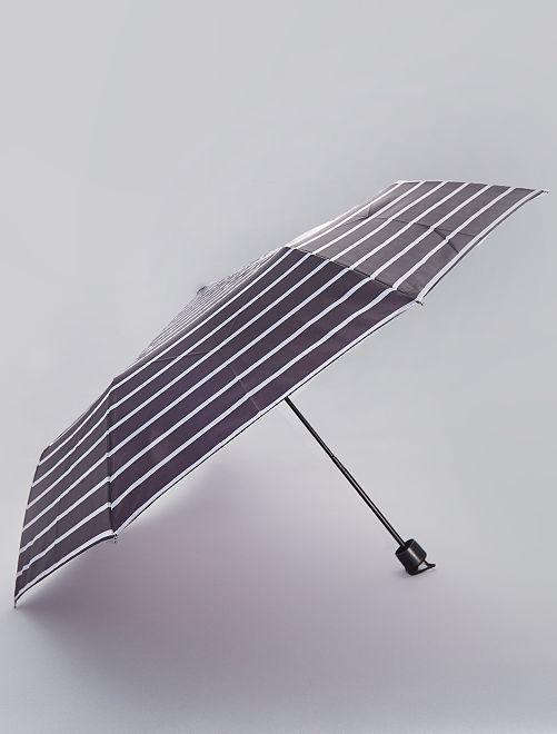 Paraguas plegable azul marino                                                                 a rayas Mujer talla 34 a 48