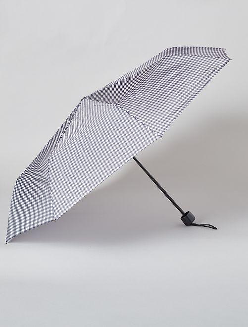 Paraguas plegable azul marino                                                         NEGRO