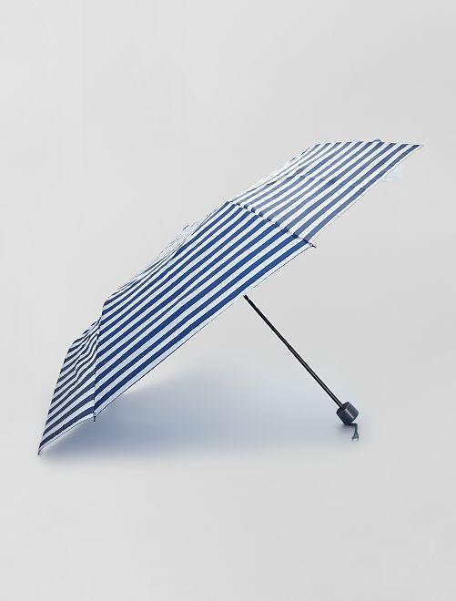 Paraguas plegable azul marino                                                                 rayas