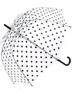 Mujer Paraguas transparente