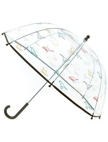 Niño 3-12 años - Paraguas transparente con estampado de fantasía - Kiabi