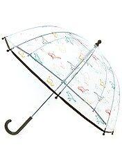 Paraguas transparente con estampado de fantasía