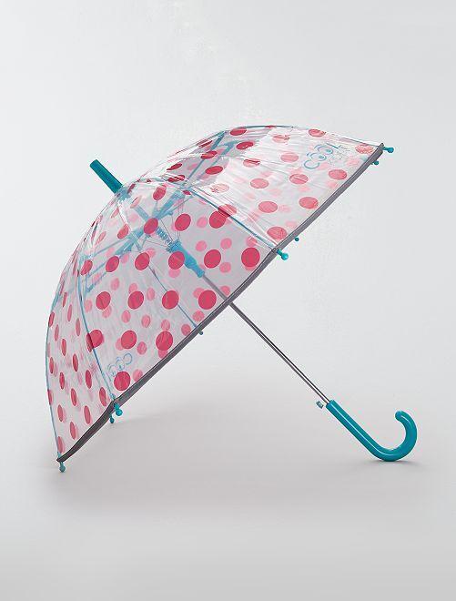 Paraguas transparente de 'lunares'                             ROSA