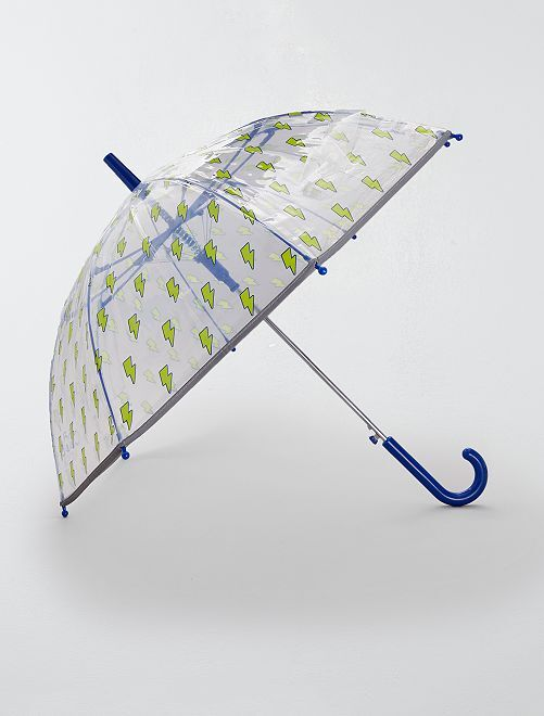 Paraguas transparente de 'rayos'                             AMARILLO
