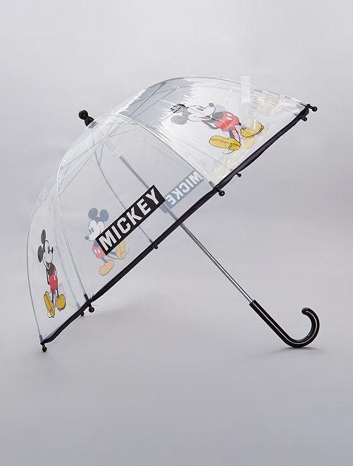 Paraguas transparente 'Mickey'                             negro