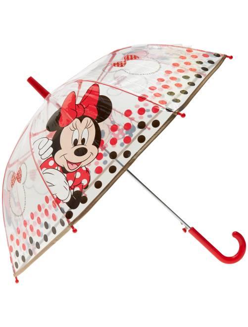 Paraguas transparente 'Minnie'                             rojo Chica