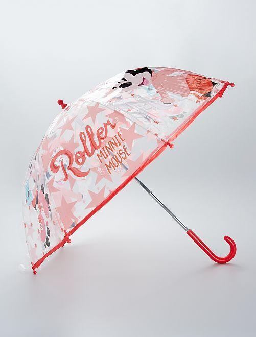 Paraguas transparente 'Minnie'                             rosa