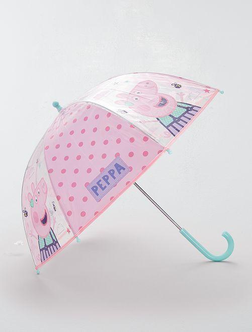Paraguas transparente 'Peppa Pig'                             ROSA