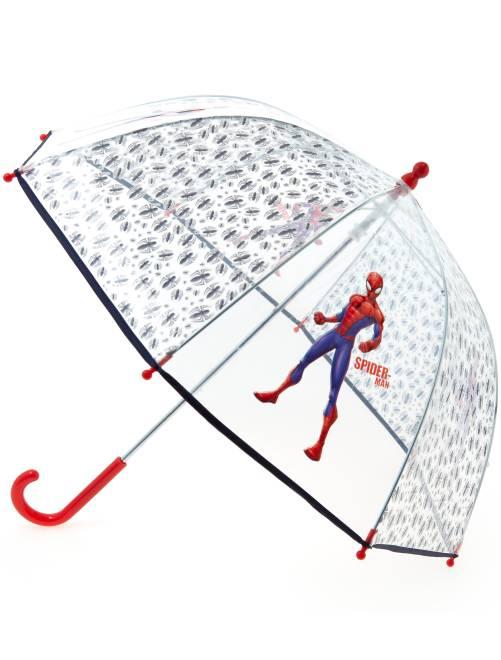 Paraguas transparente 'Spiderman' BLANCO Chico