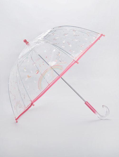Paraguas transparente 'Nueva York'                                             ROSA
