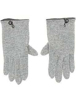 Mujer - Pares de guantes lisos - Kiabi