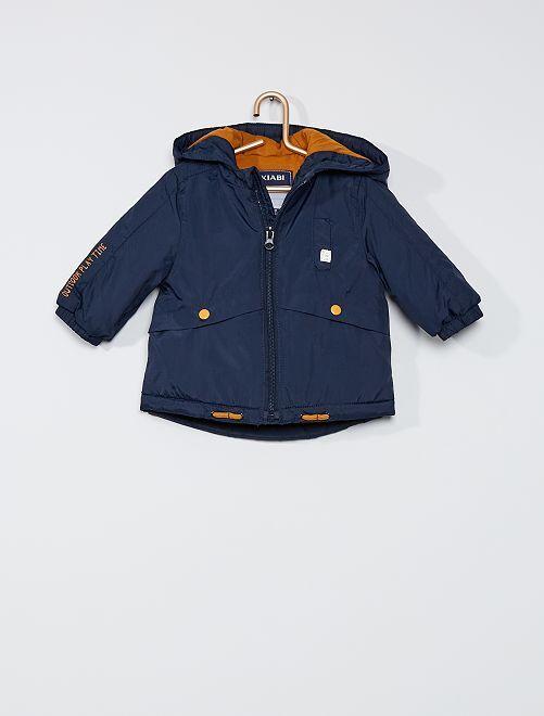 Parka con capucha                                                     azul