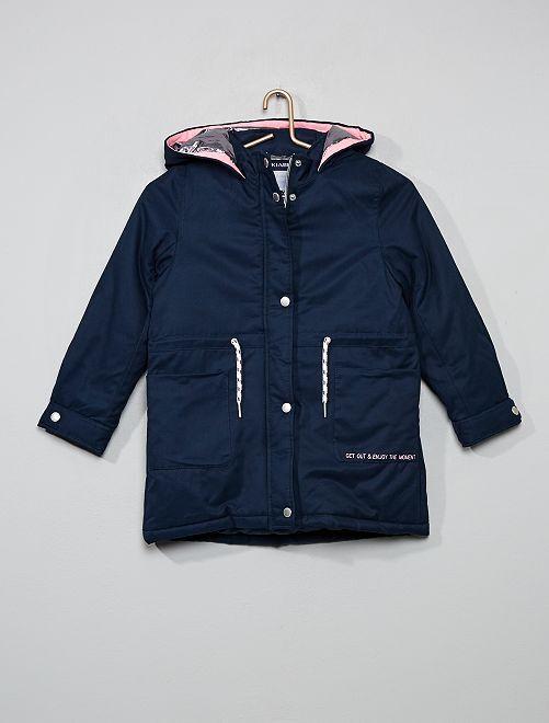 Parka con capucha cálida                                         azul