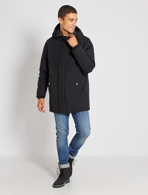 Parka con capucha                                         negro