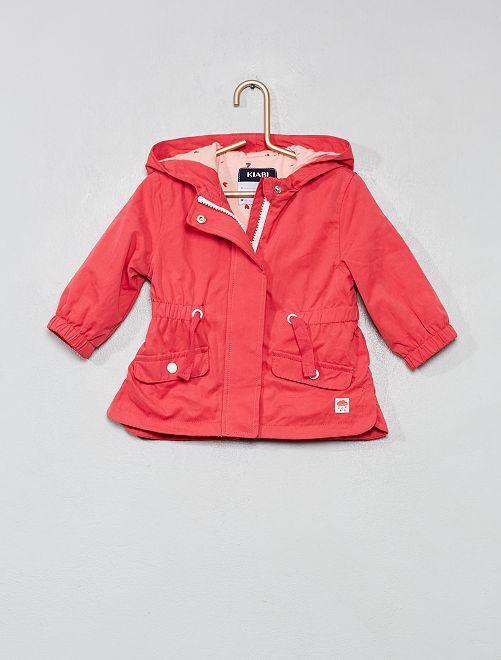 Parka con capucha                                         ROSA Bebé niña