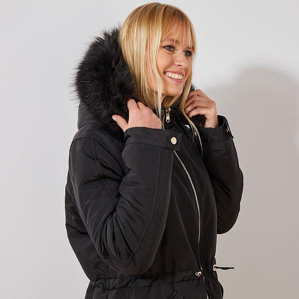 obtener online precio razonable el mejor Parka reversible con pelo sintético Mujer talla 34 a 48 ...