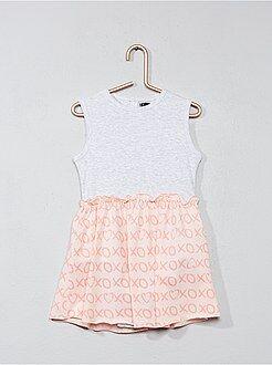 Niña 0-36 meses - Pelele tipo vestido de punto de canalé - Kiabi