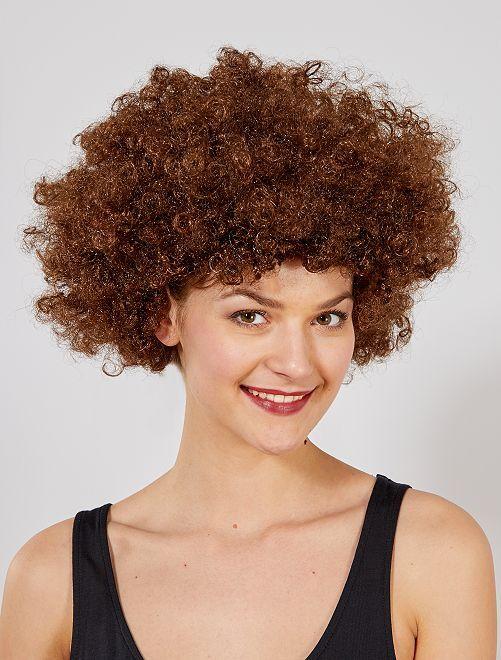 Peluca afro                                                                                         marrón Accesorios