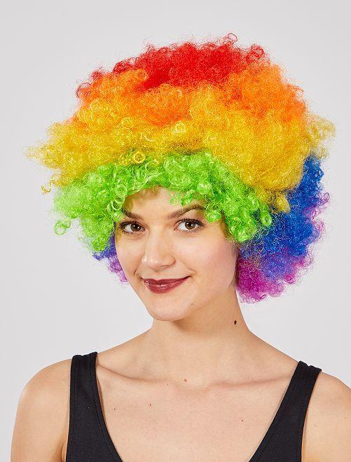 Peluca afro                                                                                         multicolor Accesorios