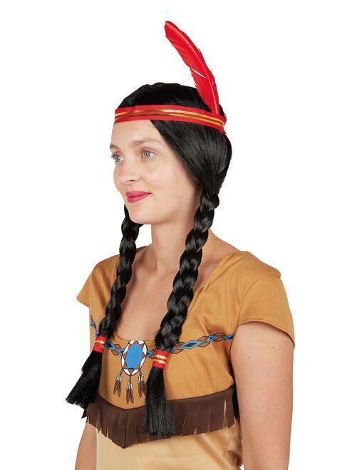 Peluca de india                             negro/rojo