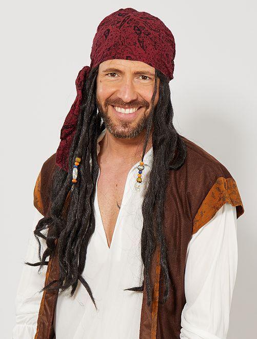 Peluca de pirata                             negro