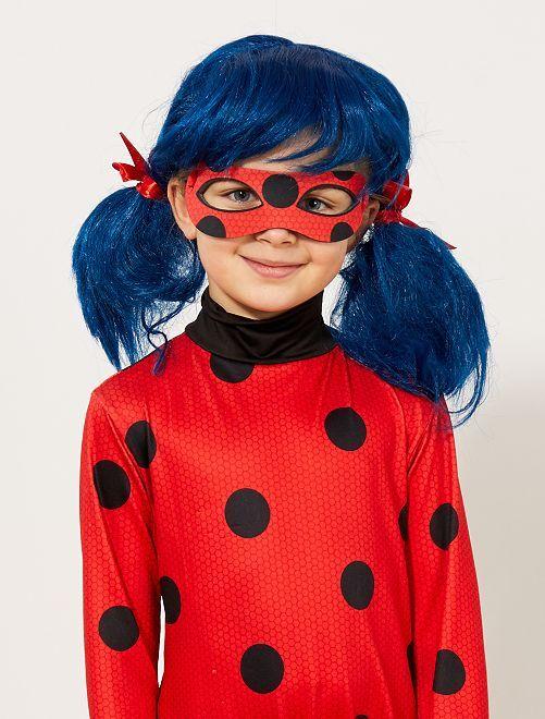 Peluca 'Prodigiosa' 'Ladybug'                             bleu/rouge Niños