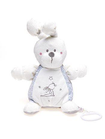 Peluche conejo musical                                                     blanco/gris Bebé niño