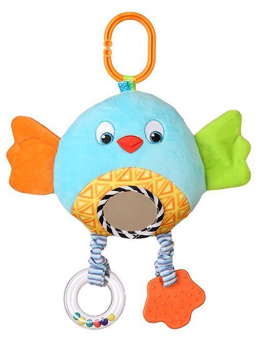 Peluche de estimulación 'pájaro'                             azul/naranja Bebé niño