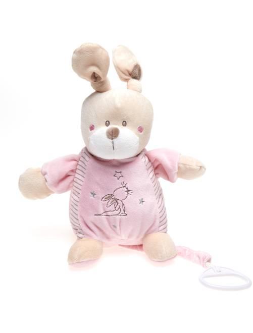 Peluche musical de conejo                                                     rosa Bebé niña