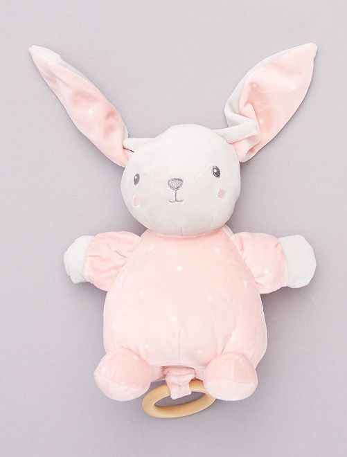 Peluche musical de conejo                                                     rosa