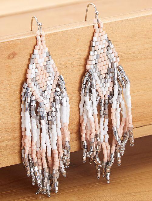 Pendientes de perlas                     BEIGE