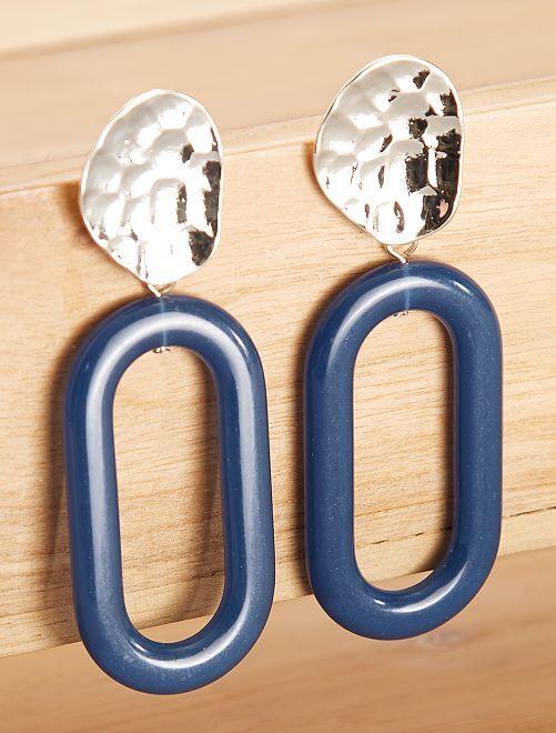 Pendientes largos                                         azul Mujer talla 34 a 48
