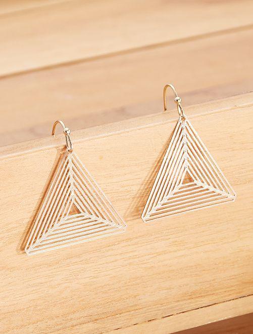 Pendientes 'triángulo'                             dorado