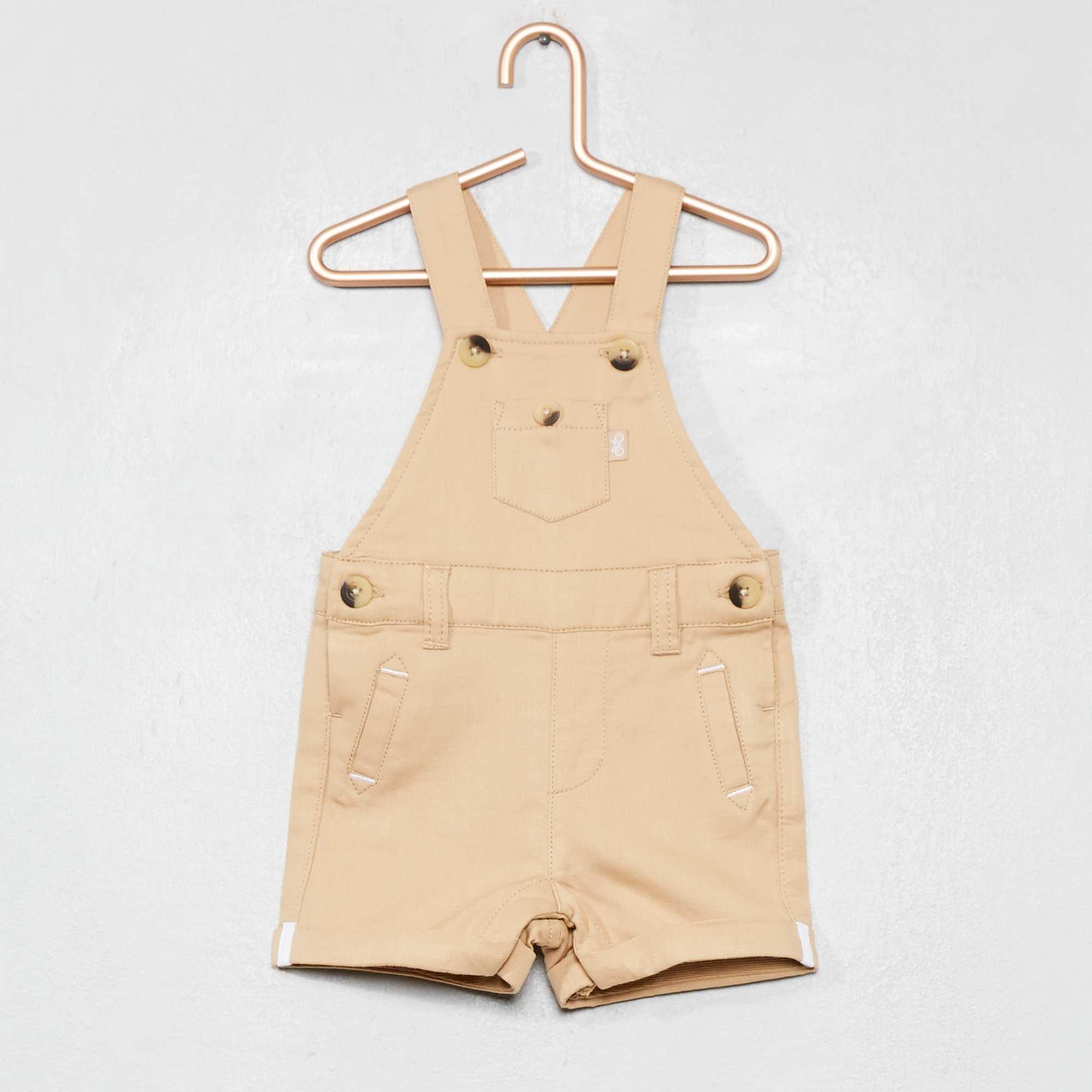 88e4109fd Peto corto de tejido de algodón puro Bebé niño - BEIGE - Kiabi - 13