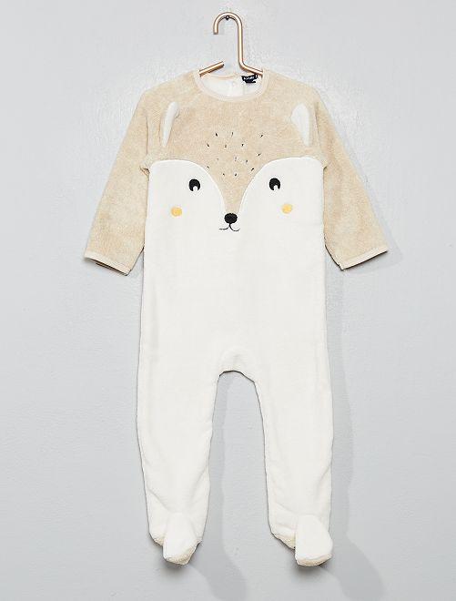 Pijama abrigado polar                                         BLANCO