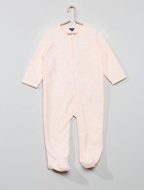 Pijama abrigado polar                                                                 ROSA Bebé niña