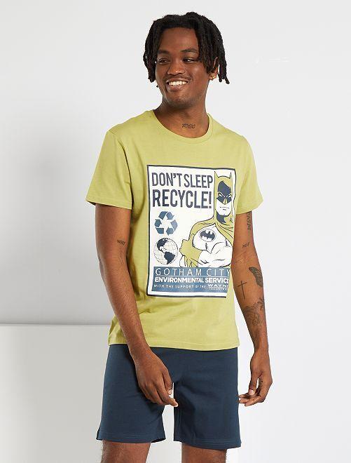 Pijama 'Batman' eco-concepción                             verde/negro