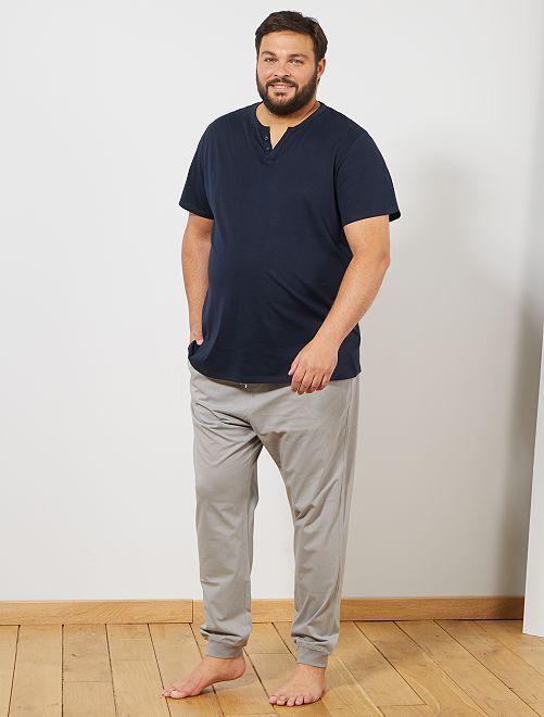 Pijama bicolor                             AZUL