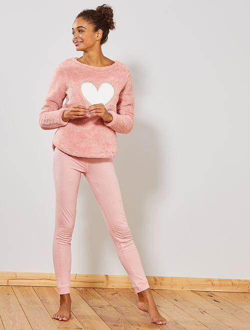 Pijama bimaterial                                                     ROSA