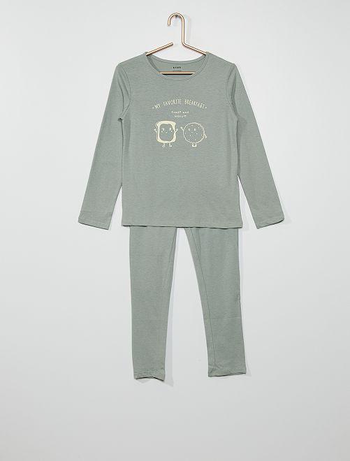 Pijama 'breakfast'                                                                                         AZUL